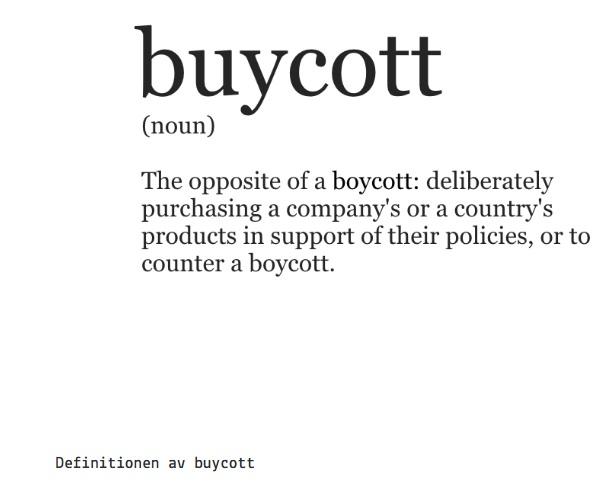 Definitionen av buycott