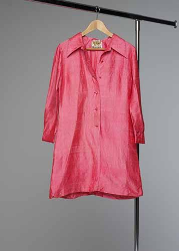 Klänning #033 rosa råsiden