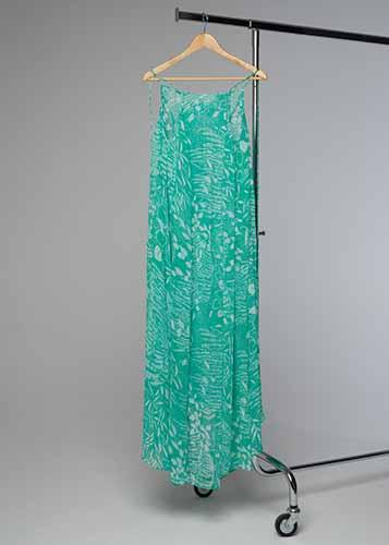 Klänning #039 grön långklänning